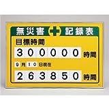 数字差込み式記録板 無災害記録表 目標時間 記録-200A【代引不可】