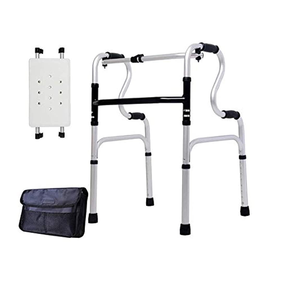 調節可能な高さの歩行フレーム、取り外し可能なバスシートと収納袋付きの非車輪付き軽量ウォーカー (Color : A)