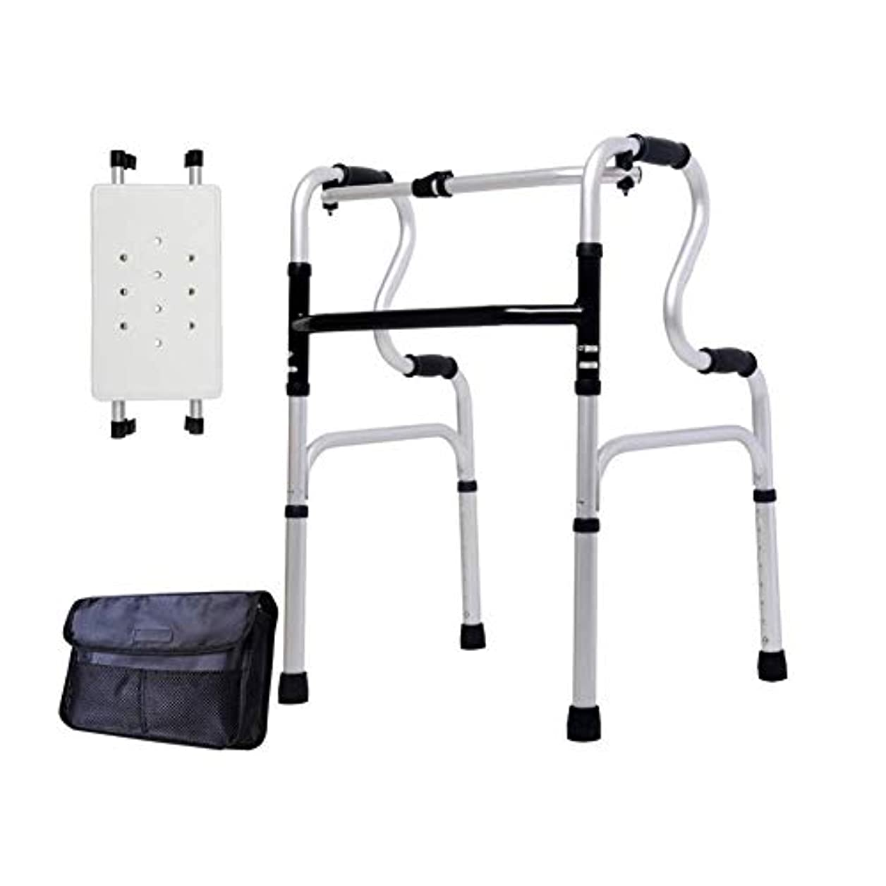 蓮対抗ボア調節可能な高さの歩行フレーム、取り外し可能なバスシートと収納袋付きの非車輪付き軽量ウォーカー (Color : A)