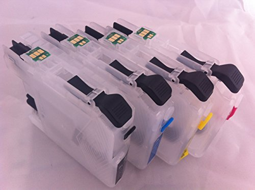 LC103 Empty Refillable Ink Cartridge For Brother MFC-J4510DW J450DW J285DW J470DW J475DW J650DW J870DW J875DW J4610DW J4310DW J4410DW J4710DW J6520DW J6720DW J6920DW DCP-J152W MFC-J245 printer 4 pcs Ink by F-INK