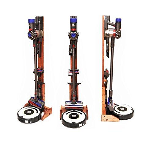 ST-04 CY 掃除ロボット+コードレスクリーナー用木製スタンド チェリー 組み立て不要 ルンバ+...
