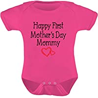 Tstars - Happy First Mother's Day Mommy Gift for New Moms Cute Baby Bodysuit