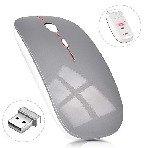 ワイヤレスマウス 超薄型 静音 無線 マウス 省エネルギー 2.4GHz 3DPIモード 高精度 持ち運び便利 Mac/Windows/surface/Microsoft Proに対応 (グレー)