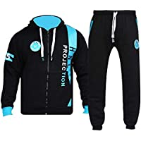 A2Z 4 Kids Boys Girls Tracksuit HNL Projection Print Black Hoodie & Botom Jogging Suit 7-13