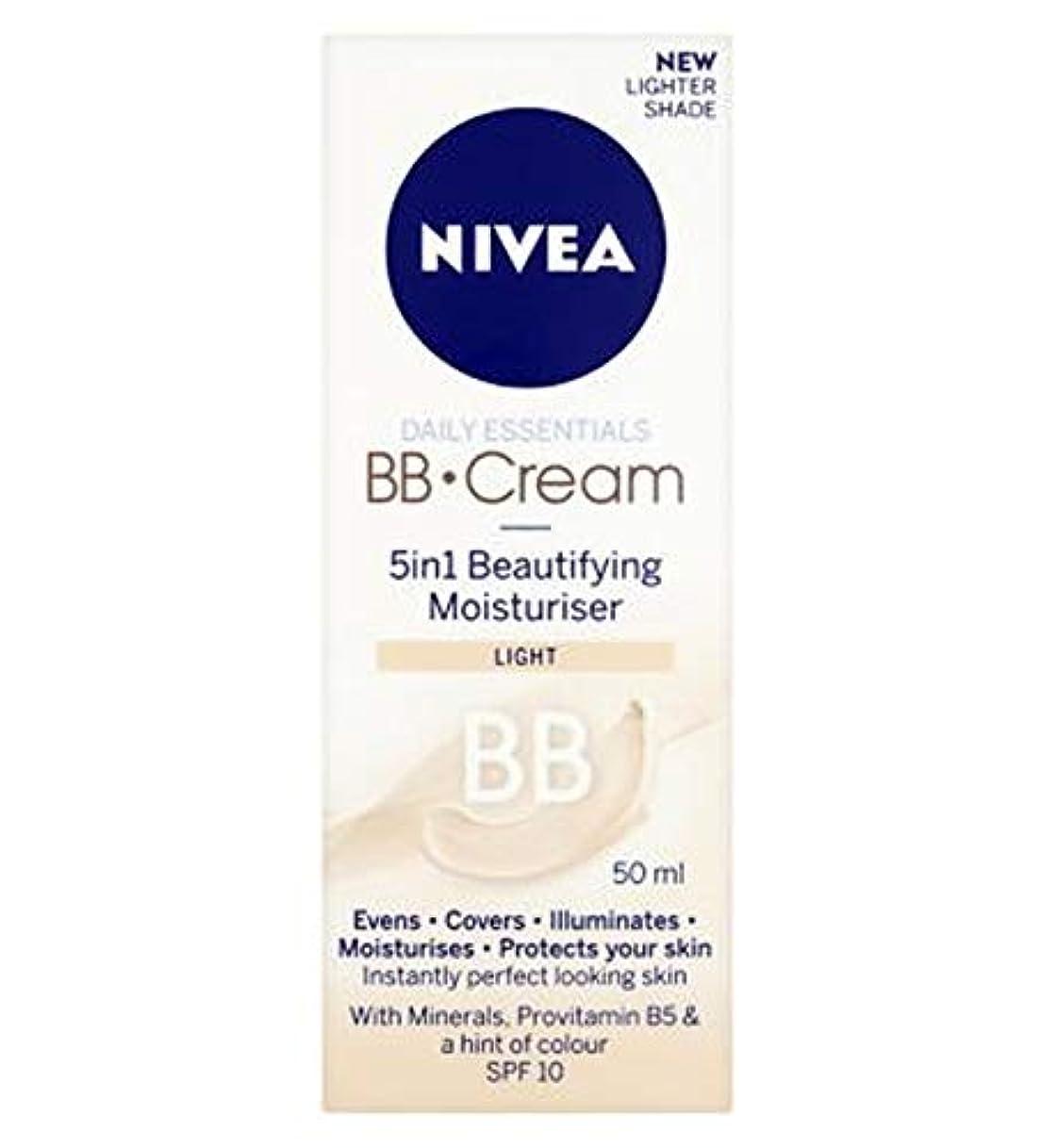 ソーシャル麻酔薬暴徒[Nivea ] 1つの美容保湿光50ミリリットルでNivea?日常必需品のBbクリーム5 - Nivea? Daily Essentials Bb Cream 5 In 1 Beautifying Moisturiser...