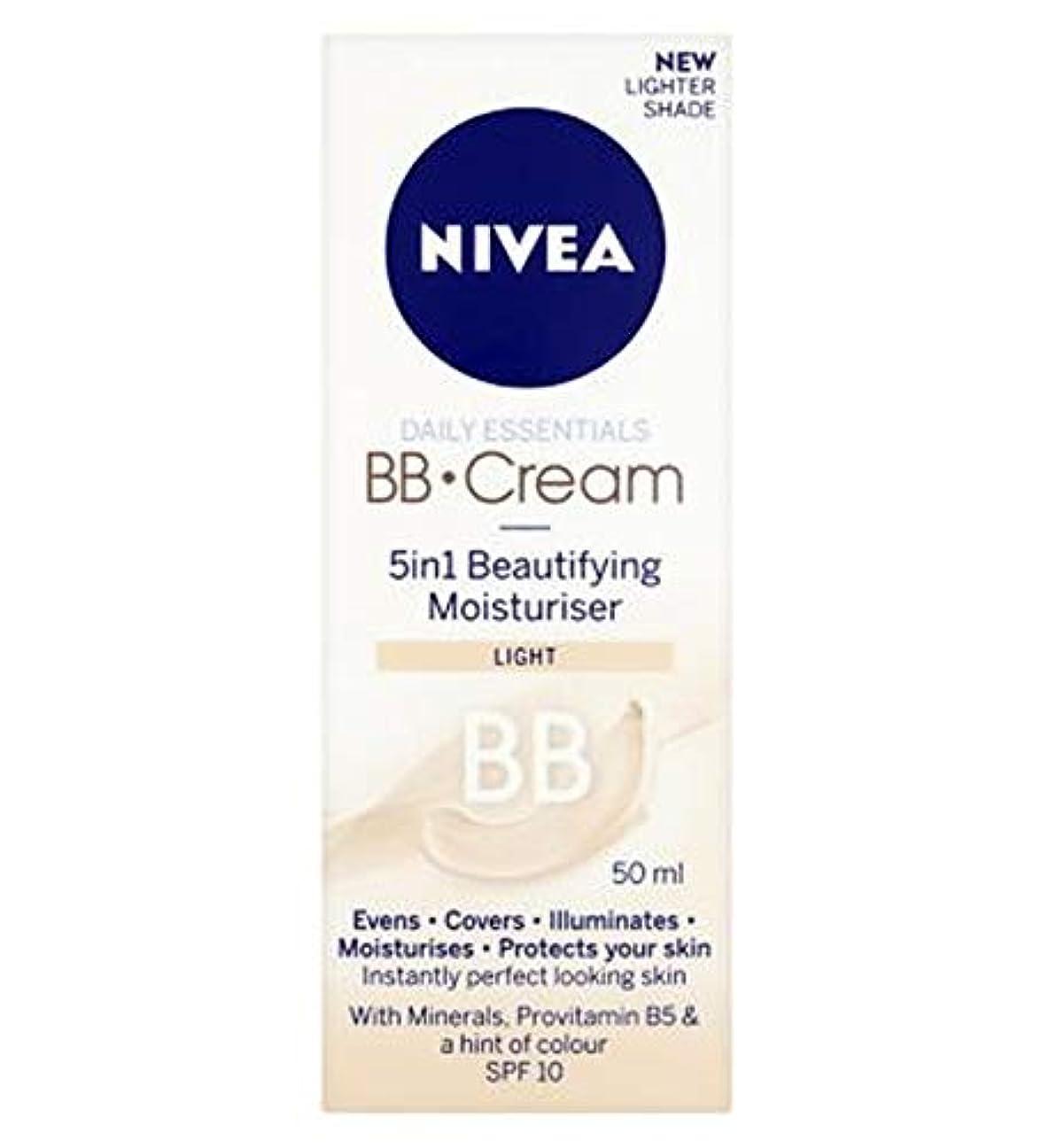 束容赦ない影[Nivea ] 1つの美容保湿光50ミリリットルでNivea?日常必需品のBbクリーム5 - Nivea? Daily Essentials Bb Cream 5 In 1 Beautifying Moisturiser...