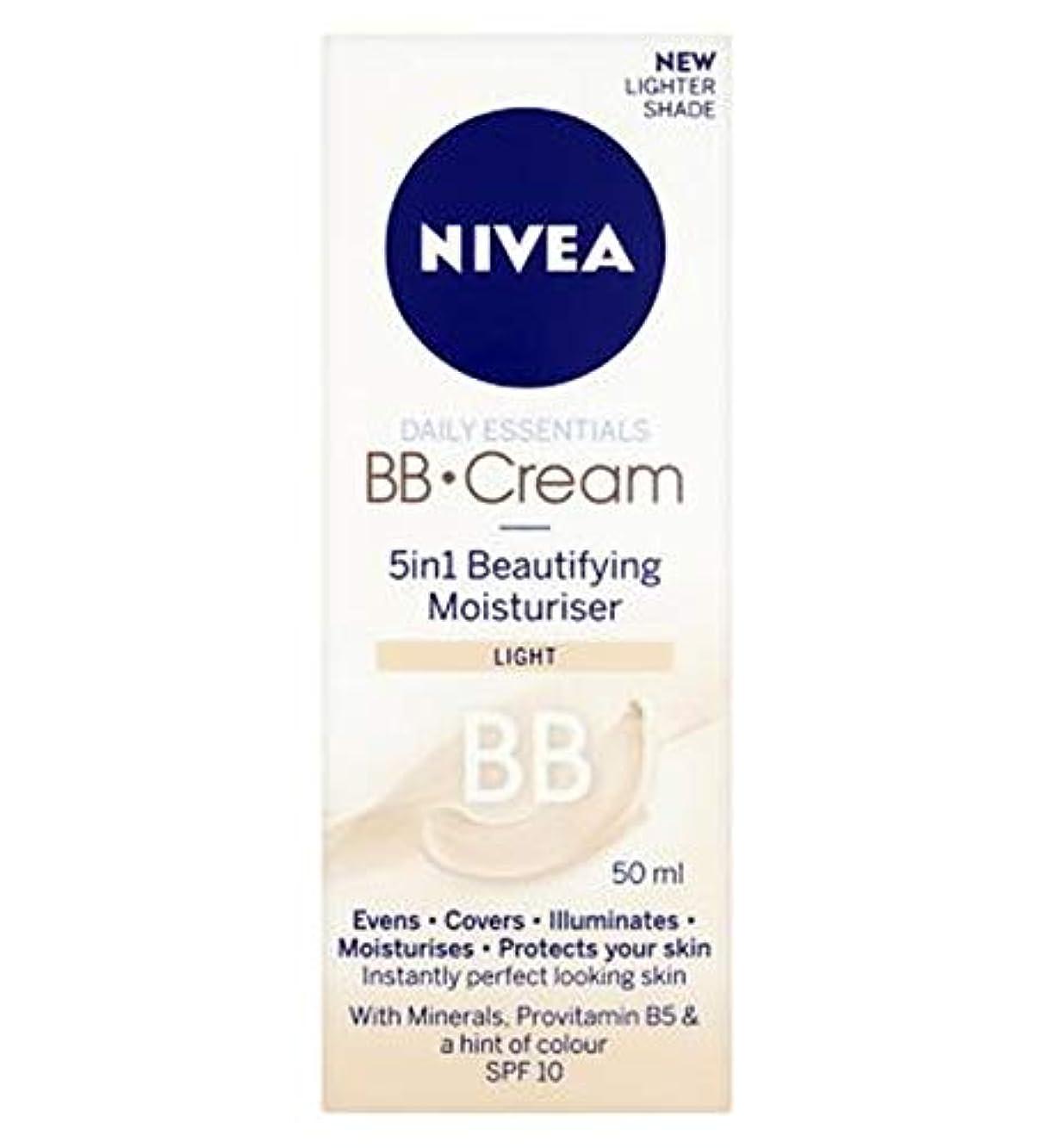 協会小石と組む[Nivea ] 1つの美容保湿光50ミリリットルでNivea?日常必需品のBbクリーム5 - Nivea? Daily Essentials Bb Cream 5 In 1 Beautifying Moisturiser...