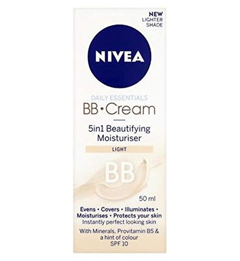 警告する感じ温度[Nivea ] 1つの美容保湿光50ミリリットルでNivea?日常必需品のBbクリーム5 - Nivea? Daily Essentials Bb Cream 5 In 1 Beautifying Moisturiser...