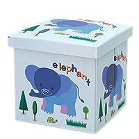 ストレージスツールオックスフォード布漫画子供のおもちゃ収納ボックスは、ストレージスツールに座って靴のベンチを変更できます。 (Color : Blue)
