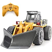 Fisca RC Truck Remote Control Snow Plow 6 CH 2.4G Alloy Snow Sweeper Vehicle 4WD Tractor Toy with Lights 【You&Me】 [並行輸入品]