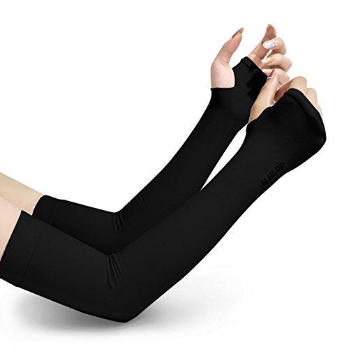 Vidgoo アームカバー 腕カーバ 冷感カーバ UPF50+ UVカット率99% 吸汗速乾 日焼け止め 通気 軽量 男女兼用 (ブラック)
