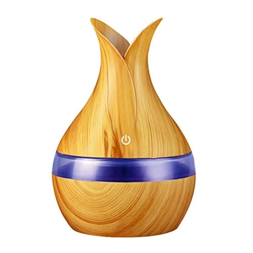 フォーマルより冷凍庫300ミリリットル超音波クールミスト加湿器カラーLEDライト付き自宅、ヨガ、オフィス、スパ、寝室、ベビールームの拡散器 - 木目調子 (Color : Light wood grain, Size : 165mm*110mm)
