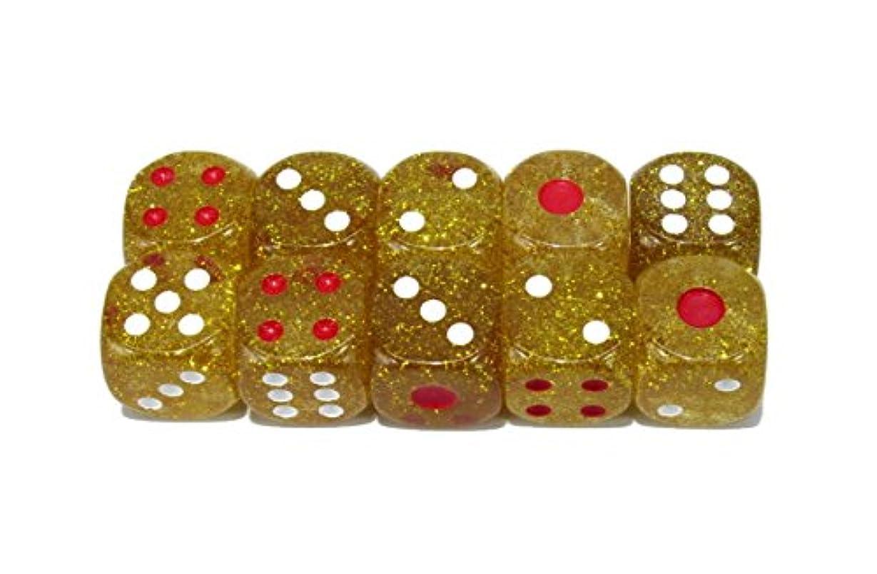 姿を消す北西馬鹿美しい きらめく 金色の サイコロ ゴールデンダイス 10個セット ゴージャスな雰囲気 パーティー等に