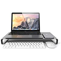 Satechi アルミニウム モニタースタンド 高品質ユニバーサル ユニボディ(ノートパソコン/ iMac / PC など対応) (スペースグレイ)