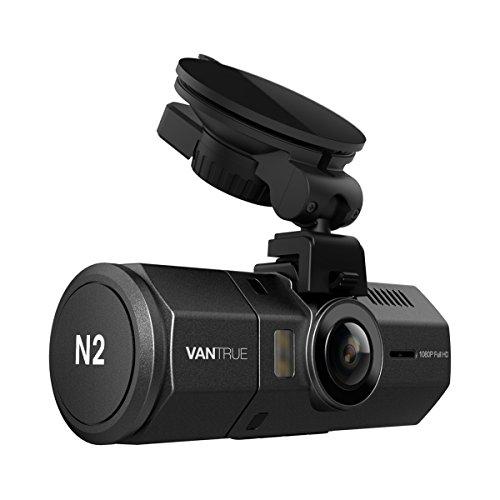 デュアルドライブレコーダー VANTRUE N2 1080P フルHD+HDR ドラレコ 1.5インチLCD 広視野角 2カメラ 前後カメラ ダブルカメラ搭載(車内+車外) 同時録画 G-センサー 駐車監視機能 夜視機能搭載