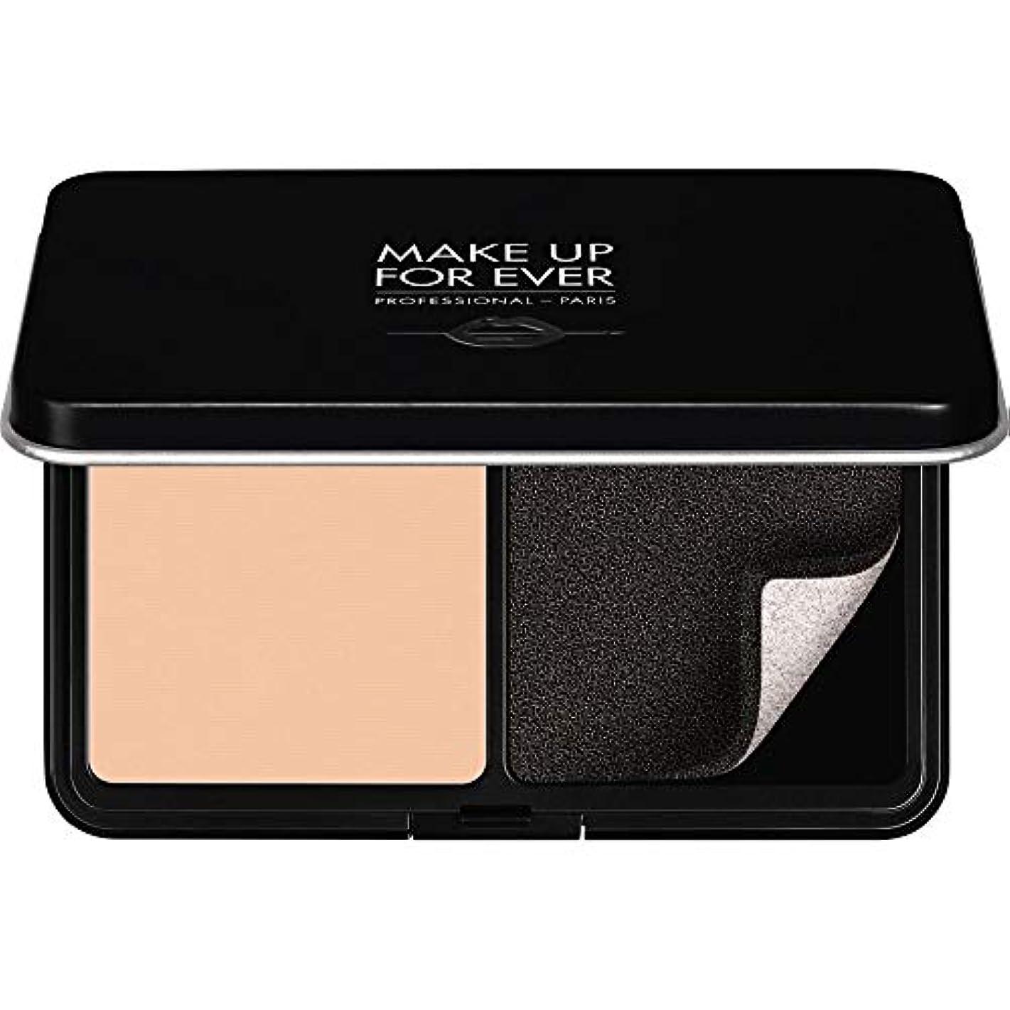 愛電気技師麦芽[MAKE UP FOR EVER ] パウダーファンデーション11GののR220をぼかし、これまでマットベルベットの肌を補う - ピンクPorcelaine - MAKE UP FOR EVER Matte Velvet Skin Blurring Powder Foundation 11g R220 - Pink Porcelaine [並行輸入品]