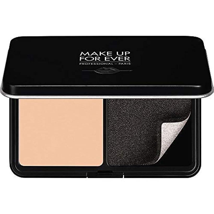 健全また無限[MAKE UP FOR EVER ] パウダーファンデーション11GののR220をぼかし、これまでマットベルベットの肌を補う - ピンクPorcelaine - MAKE UP FOR EVER Matte Velvet Skin Blurring Powder Foundation 11g R220 - Pink Porcelaine [並行輸入品]