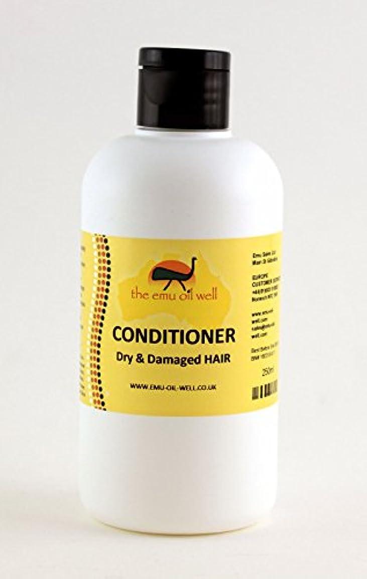 フクロウみすぼらしいギャングエミューオイル250ミリリットル、NATURALおよび再水和とドライ&ダメージヘアコンディショナー Australian Emu oil