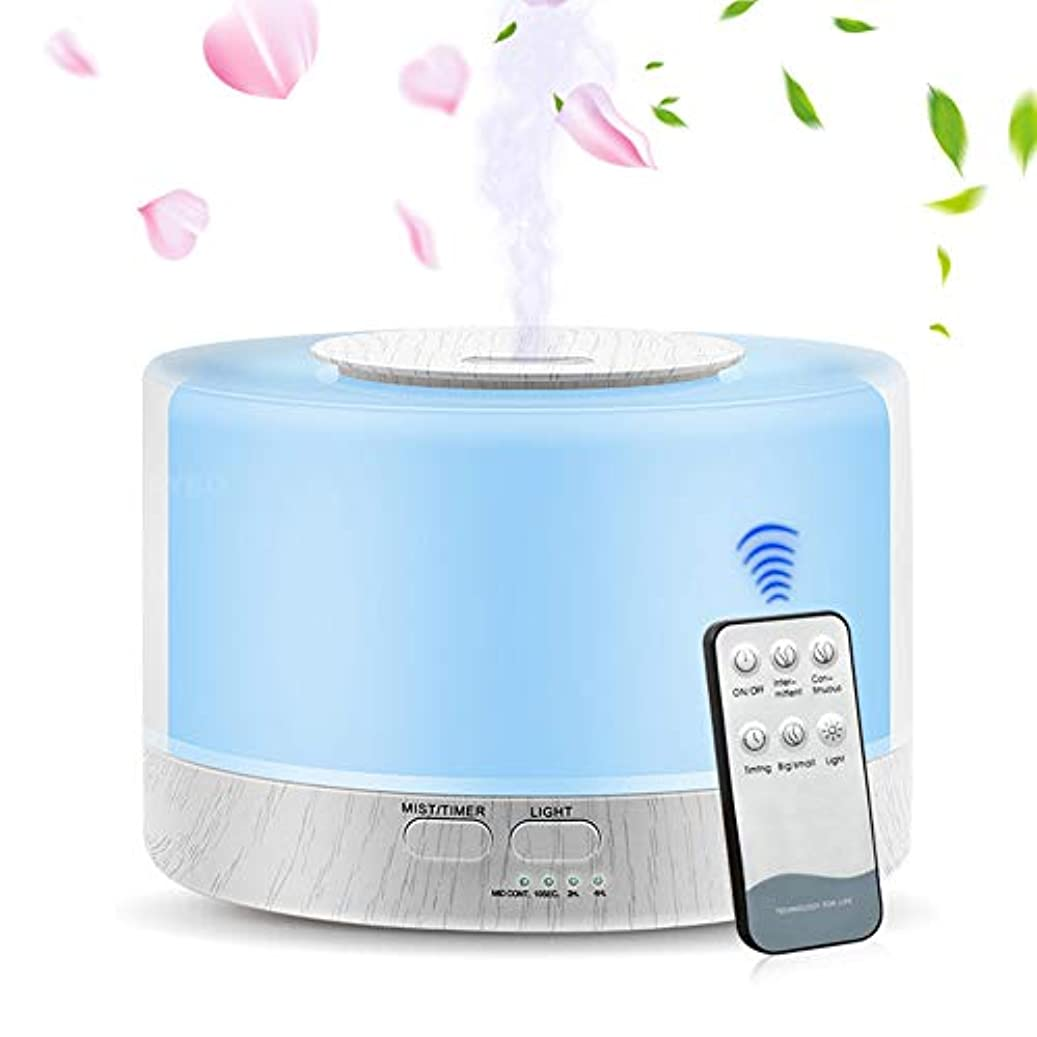 請求リスナーアレルギーエッセンシャルオイルディフューザー、大容量700Ml加湿器超音波アロマセラピーアロマセラピーディフューザー加湿器、タイマー、静かな操作、7色フレグランスランプ、ホームオフィス用ヨガSPA
