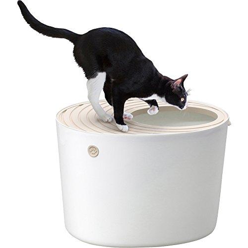 アイリスオーヤマ 上から猫トイレ ホワイト PUNT-530