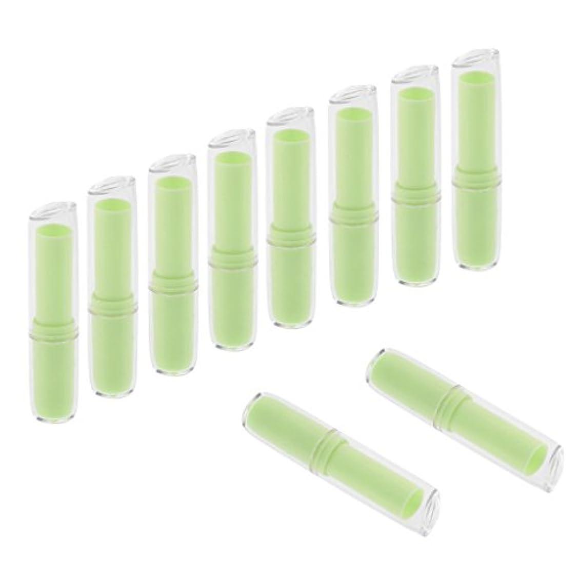 傾向がありますドア適用するInjoyo 口紅チューブ リップクリーム容器 口紅容器 リップスティック コンテナ プラスチック材質 約10個 全6色 - 緑