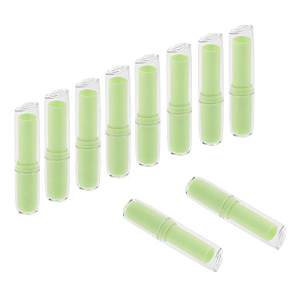 バスタブ差無声でInjoyo 口紅チューブ リップクリーム容器 口紅容器 リップスティック コンテナ プラスチック材質 約10個 全6色 - 緑