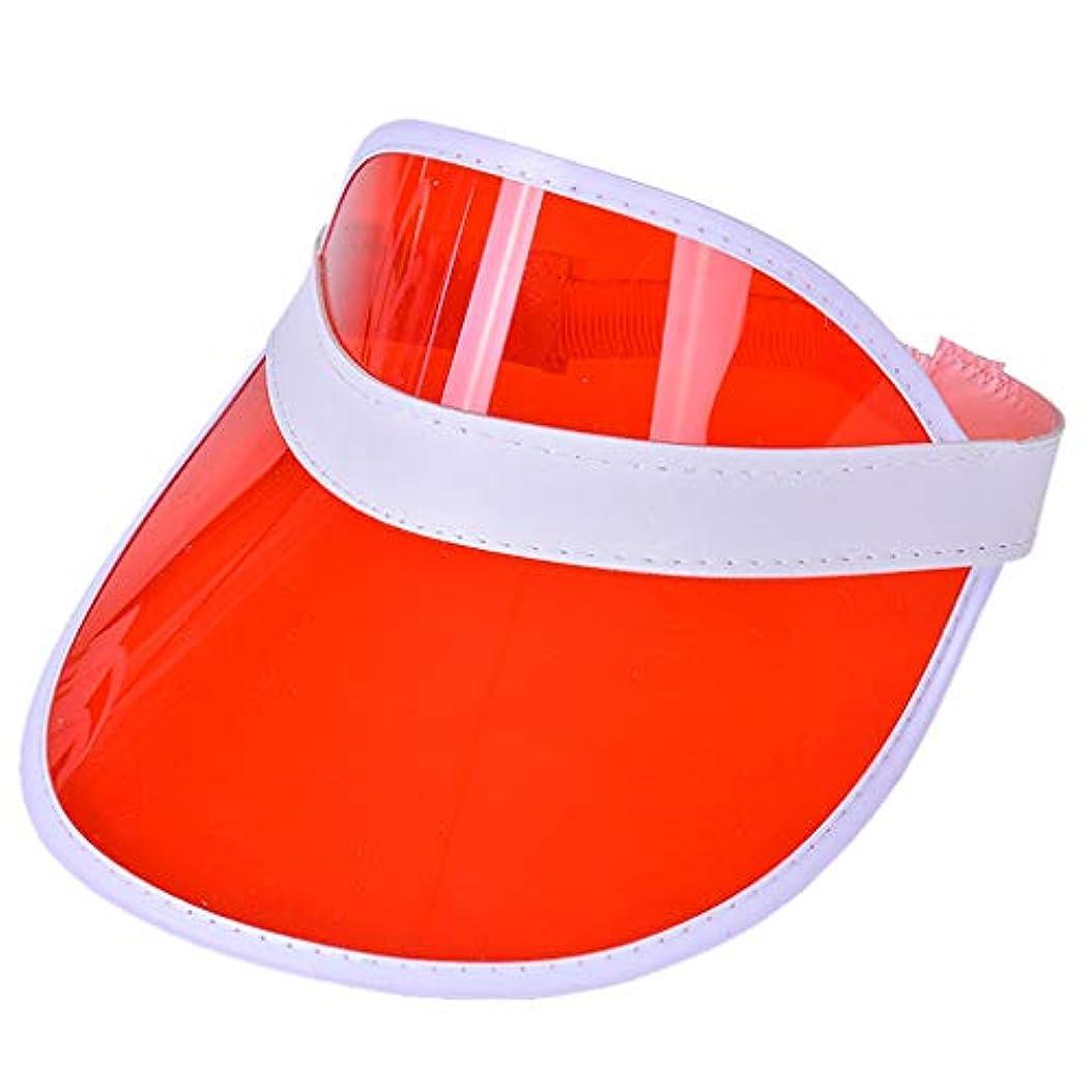 レディースクリアハット帽子レインバイザー UVカットユニセックスアウトドア野球帽帽子