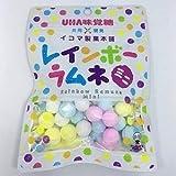 BODオリジナル 味覚糖 レインボーラムネ6個&森永製菓 大粒ラムネ6個 計12個セット