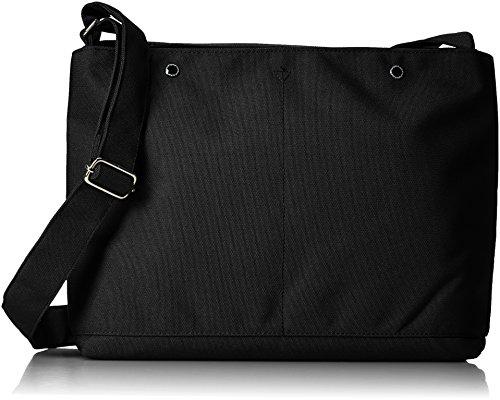 [アネロ] ショルダーバッグ ミニポーチ付10ポケットショルダーバッグ AT-S0111 BK ブラック