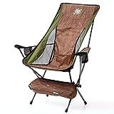 アウトドアチェア コンパクトチェア 軽量チェア アウトドア 軽量 折りたたみ椅子 耐過重150kg キャンプ用品 1.7kg キャンプ 釣り 椅子 イス レジャー 運動会 チェア 折り畳み椅子 グランピング おしゃれ ナバホ 折りたたみ (アースブラウン)