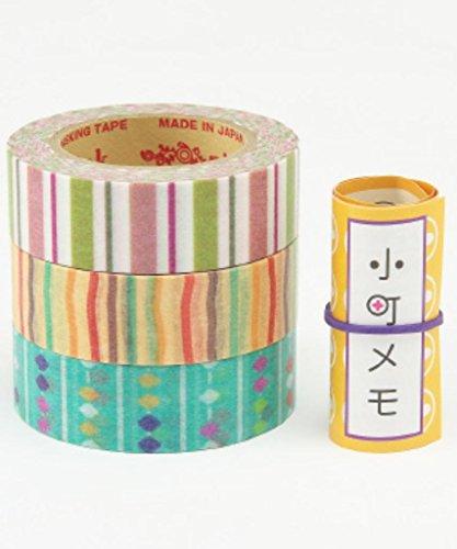 RINK(リンク) デザイン和紙テープ 小町 縞算盤柄 3巻...