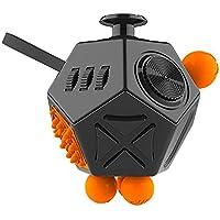 Liegan-おもちゃ解凍キューブ,紧张の不安解消キューブ玩具だ,ストレスや不安を解消し、大人と子供のおもちゃキューブ (ブラック)