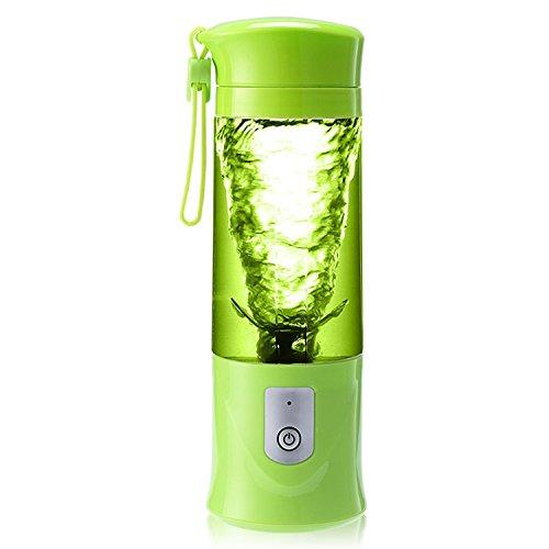 ボトルブレンダー Dacore ミニジューサー ミキサー コンパクト 小型 420ml 多機能 フードプロセッサー USB充電式 野菜ミキサー 果物ミキサー スムージー手作り ジュースミキサー 電動 バウダー作れ 携帯式 携帯便利 栄養補給 4枚刃付き