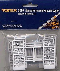 Nゲージストラクチャー 自転車 (64台セット) 3597