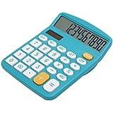 太陽エネルギー電卓 小型家庭電器 実務電卓 太陽エネルギー電卓 12桁電卓 スタンダード電卓 電子使用でき 時間・税計算 オフィス用品 ブラック (ブルー)