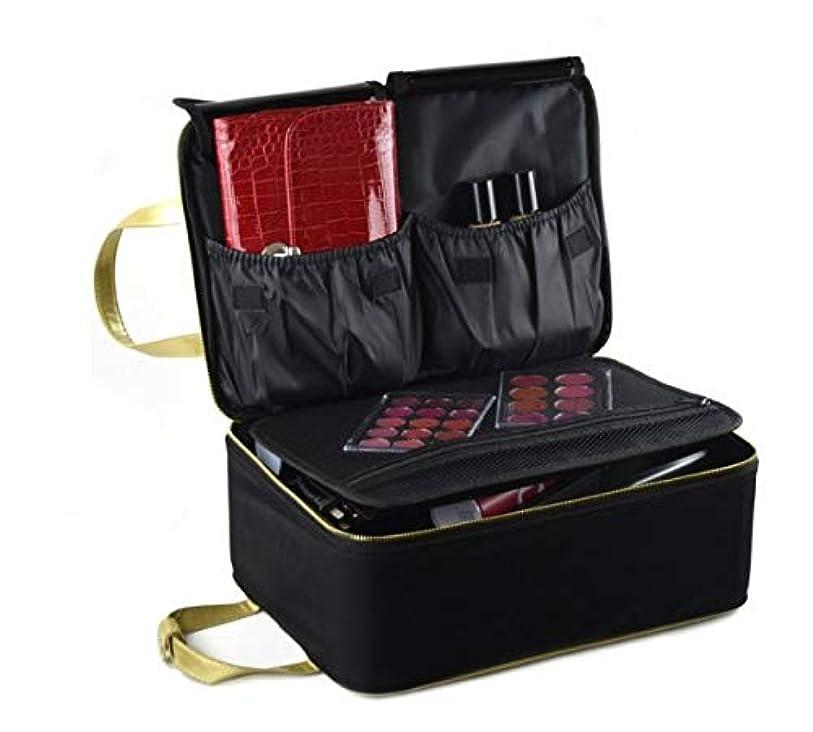 サービス放牧する引数化粧箱、黒い携帯用化粧品の箱、携帯用旅行化粧品の箱、美の釘の宝石類の収納箱 (Size : S)