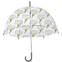 Rainbrella Kids Sky Collection Bolt Umbrella, Clear,