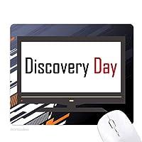 カナダ発見日の祝福の祭りの休日を祝う祭りの祝賀の言葉 ノンスリップラバーマウスパッドはコンピュータゲームのオフィス