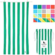 Lightweight Beach Towels for Travel - Cancun Green, Extra Large (200x90cm, 78x35) - Pool Towel, Sand Free Beac
