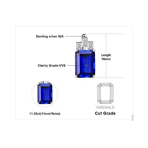 JewelryPalace 11.6ct 高品質 人工 サファイア イヤリング レディース ブルー 人気 9月 誕生石 スターリング シルバー925 ピアス 女性 ブランド