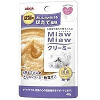 (まとめ)アイシア MiawMiawクリーミーパウチほたて40g 【猫用・フード】【ペット用品】【×48セット】