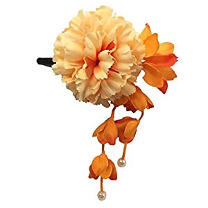 [粋花] Suika フラワークリップ 4054 オレンジ