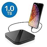 エレコム ポータブルハードディスク 1TB USB3.0 スマートフォン用 ELP-SHU010UBK