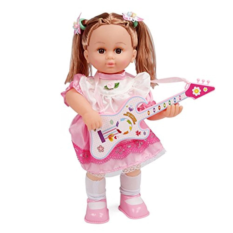 Costzon 41cm Baby Doll Girl Toy Fun Lifelike Singer Toy w/Pretend Play Guitar Voice Control