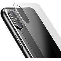 LANHAI 2pack iPhoneX 背面保護フィルム ガラスフィルム 液晶保護フィルム 日本製 素材 旭硝子使用 9H硬度の強化ガラス保護フ 高透過率 3D 0.3mm 超薄型 耐指紋 撥油性 ラウンドエッジ加工