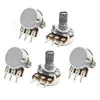 5pcs 6mm Shaft 3 Pin Pots Single Turn Adjustment Potentiometer 500Kohm