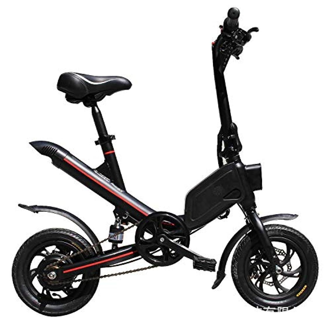 実業家エゴマニア前投薬折りたたみEBike、ロードバイク350Wアルミ電動自転車大人と高校生のためのペダル36V / 6.6 AHリチウムイオン電池と12インチ電動自転車15Mphと