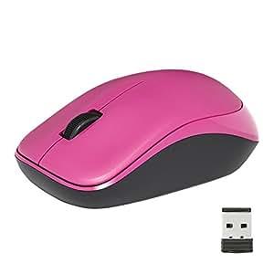 iBUFFALO 無線(2.4GHz)光学式マウス 3ボタンタイプ ピンク BSMOW10PK