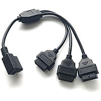 OBD2 3分岐 ケーブル ハーネス L型 メス カプラー 分岐コネクター いくつも 同時に 取り付け