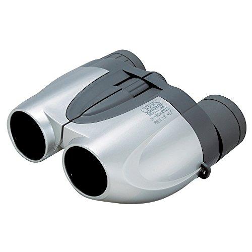 Kenko 双眼鏡 CERES(セレス) 10-50X27 MC-S ポロプリズム式 10~50倍 ズームタイプ 27口径 レンズクロス付属 シルバー CR05